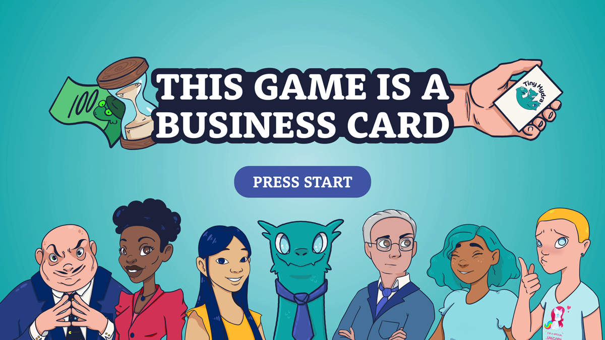 This game is a business card